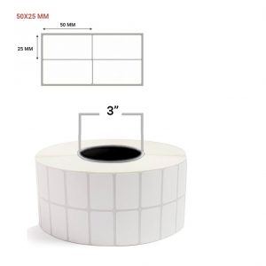 """Polyester Barcode Label 2"""" X 1"""" - 2 Across (1.5"""" Core & 3"""" Core ) - Pack Size : 20000"""